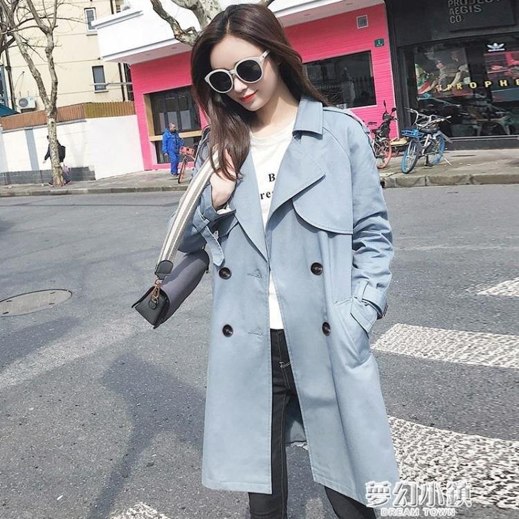 風衣女中長款矮小個子新款韓版秋季流行英倫風氣質外套大衣 新年鉅惠
