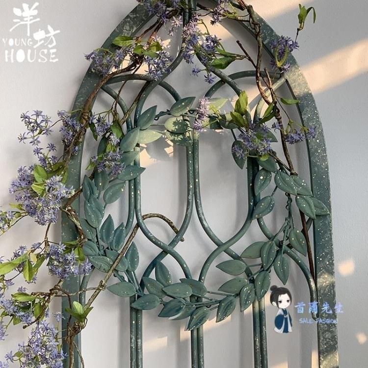 壁掛假窗戶 洋坊鐵藝假窗復古做舊裝飾壁掛美式鄉村風格客廳家居軟裝餐廳牆面