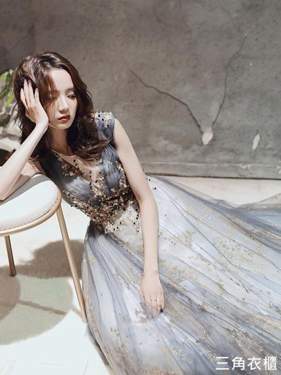 氣質晚禮服裙女仙氣18歲成年禮宴會氣場女王夢幻高級質感森系公主 新年鉅惠