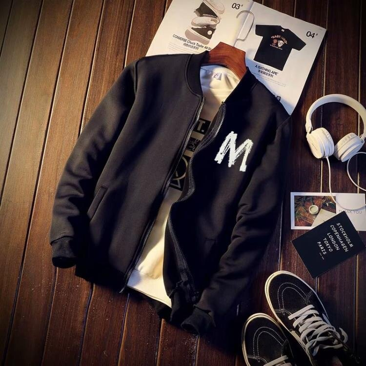 聖誕節禮物-棒球服 外套男春秋裝上衣韓版潮流男棒球服秋季男士運動男生機能夾克