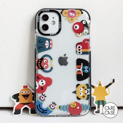 CARECASE 小怪獸系列 iPhone XS Max 手機保護殼 圍圈款