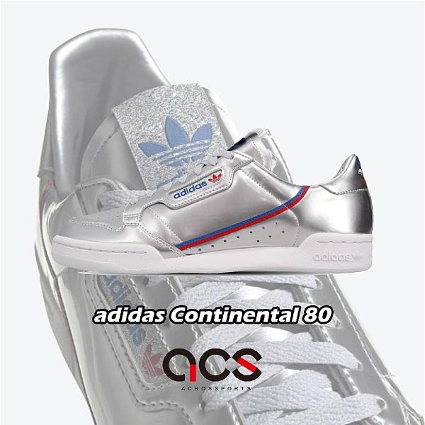 【五折特賣】adidas 休閒鞋 Continental 80 銀 白 男鞋 女鞋 銀色 金屬 運動鞋 【ACS】 FW5350