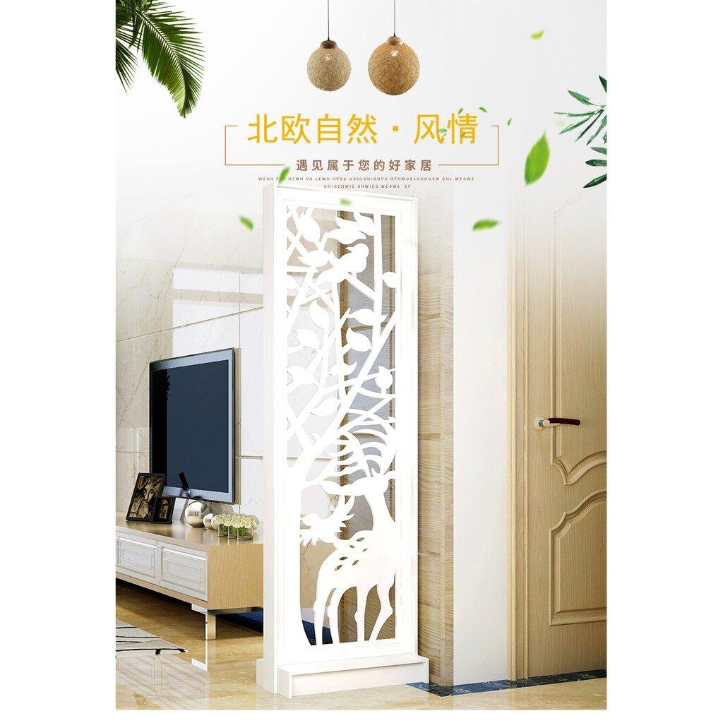屏風 現代中式屏風 簡約家具時尚屏風隔斷墻 餐廳鏤空座玄關屏風 客廳臥室隔斷櫃 XH