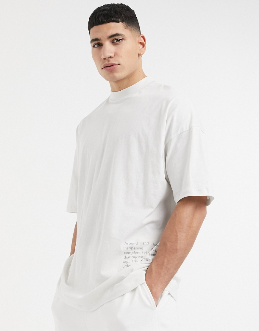 ASOS 4505 oversized t-shirt with print-Grey