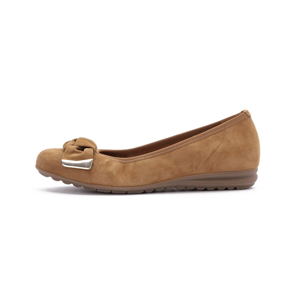 【領券折350】德國 GABOR 運動系列 皮革芭蕾平底鞋 棕 52.621.35 女鞋