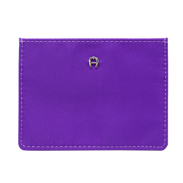 【Aigner 艾格納】PICO 4卡優遊卡/信用卡套-亮紫