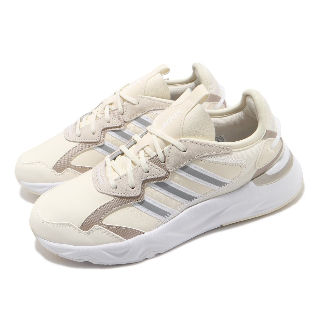 ADIDAS 慢跑鞋 Futureflow 運動休閒 女鞋 愛迪達 輕量 透氣 基本款 球鞋穿搭 米 白 [FZ0367]