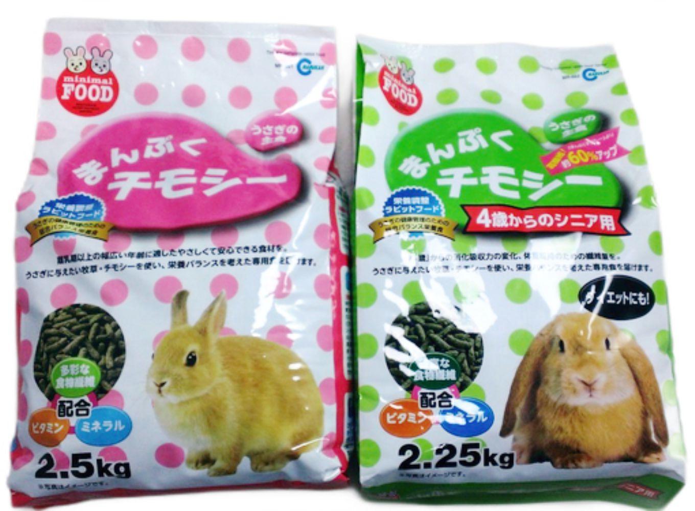 日本marukan兔兔專用主食,成兔2.25kg、高齡兔2kg,添加提摩西