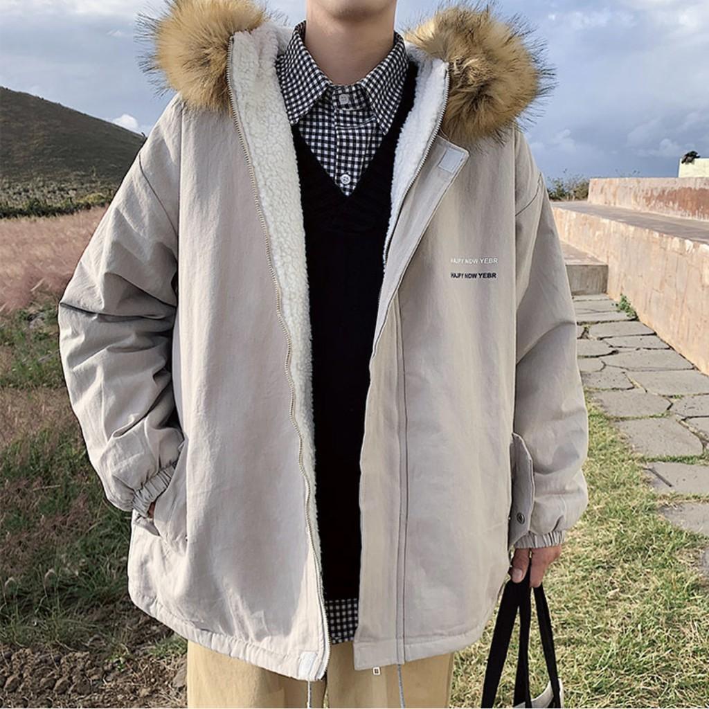 秋冬 寬鬆 鋪棉外套 連帽外套 毛領外套 保暖外套
