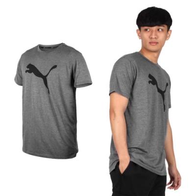 PUMA 男訓練系列大跳豹麻花短袖T恤-慢跑 路跑 51838208 麻花深灰