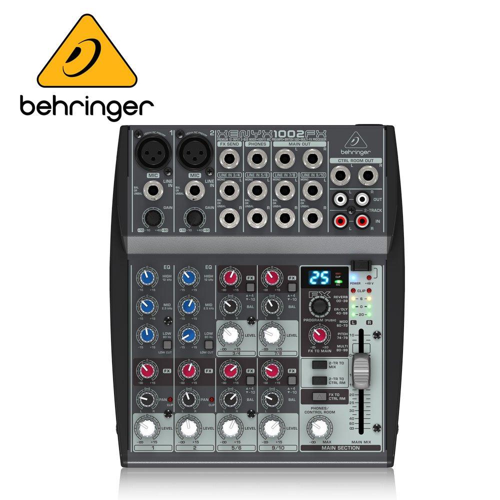 BEHRINGER XENYX 1002FX 混音器 (原廠公司貨 商品保固一年)