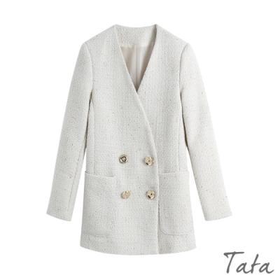 混金蔥編織金屬排扣西裝外套 TATA-(S~L)
