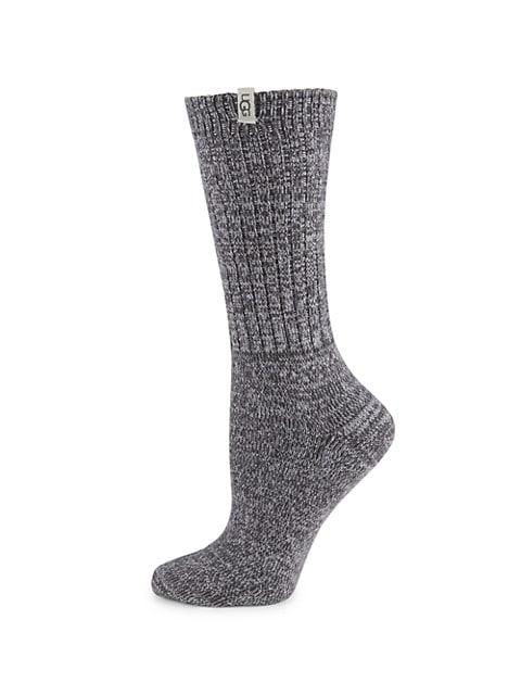 Rib-Knit Slouchy Crew Socks