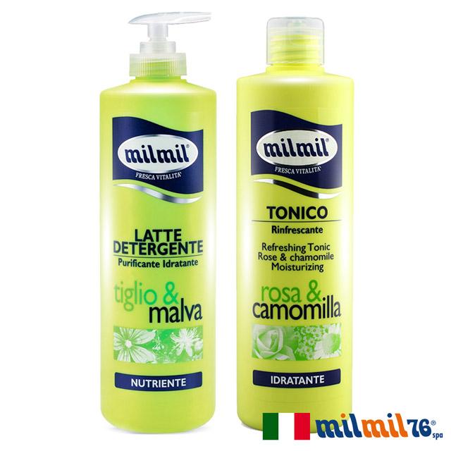 【義大利MILMIL】植萃水感溫和柔嫩清潔乳+舒活潤顏化妝水1+1舒活組