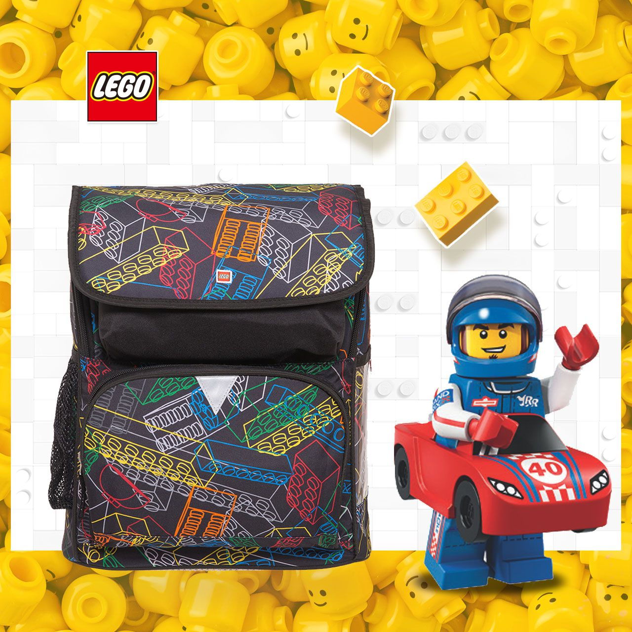 LEGO丹麥樂高書包Recruiter-彩色積木 20069-1816