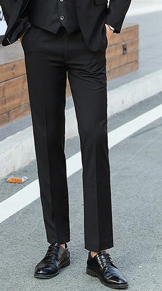【3590】修身版黑色男西褲(男西裝/背心/西褲)/六色可選 男女款/公司團體制服主管業務結婚