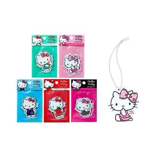 【Hello Kitty】香氛造型吊卡 5種香味選擇 正版授權