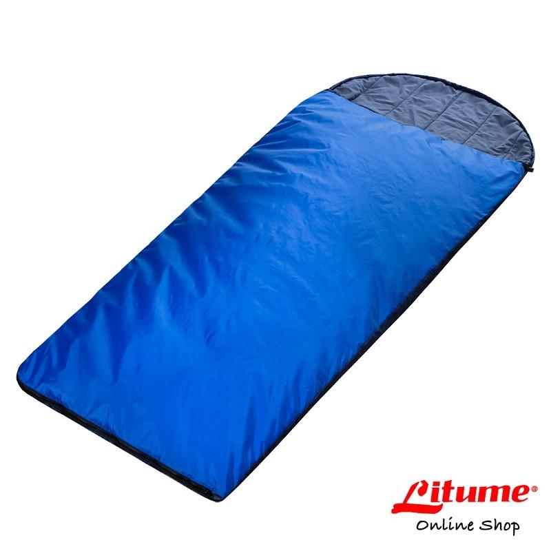【Litume】化纖棉保暖睡袋『深藍』C052