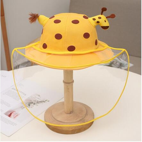 兒童防護帽防飛沫嬰兒防護裝備套裝全臉防護防唾沫帽漁夫帽 小艾新品