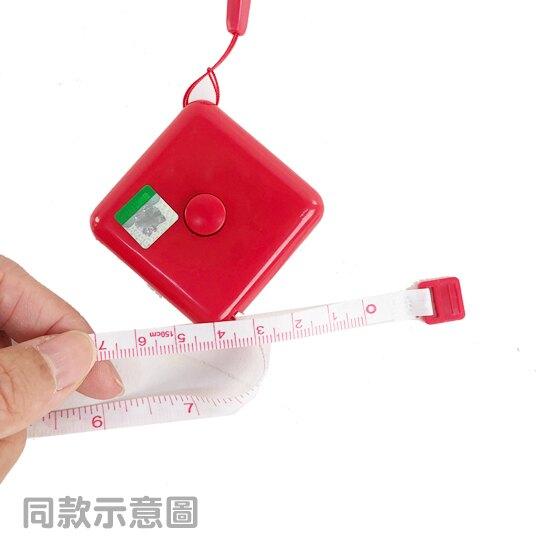 【領券折$30】小禮堂 美樂蒂 方形伸縮捲尺 皮尺 量衣尺 150cm (粉 大臉)