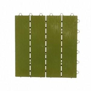 直紋組合地板4入 綠