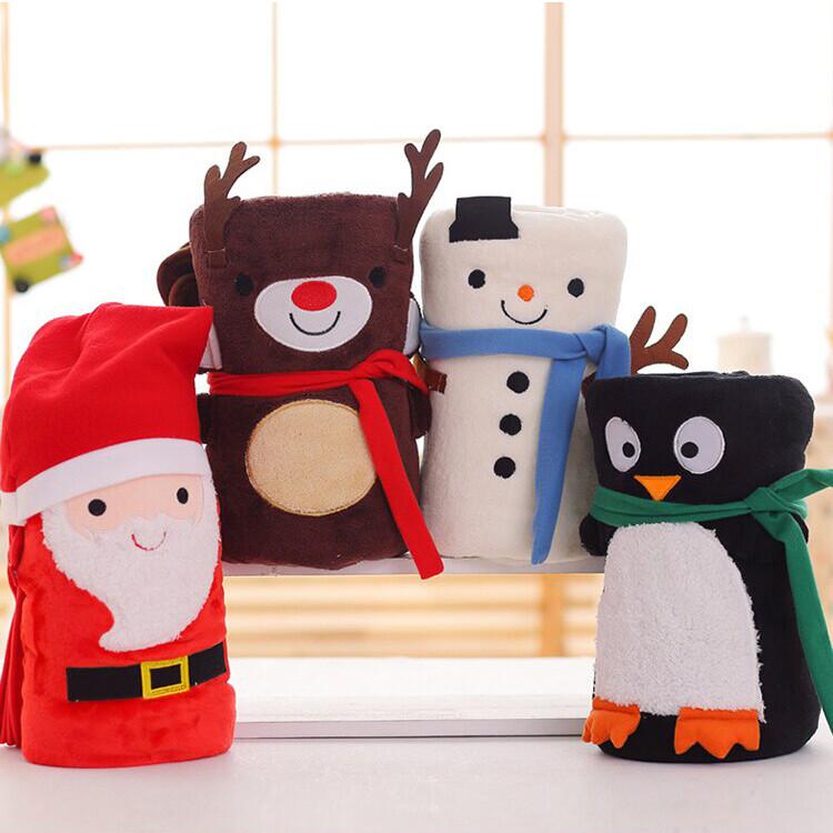 可愛聖誕老人法蘭絨毛毯 毯子 空調毯 雪人麋鹿 創意交換禮物 j2454