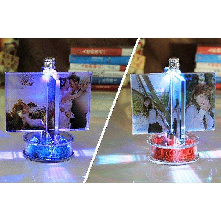 客製化照片 生日禮物 情侶禮物 風車旋轉相框 送閨蜜 女/男朋友 擺檯 diy手工 畢業禮物 紀念水晶相框