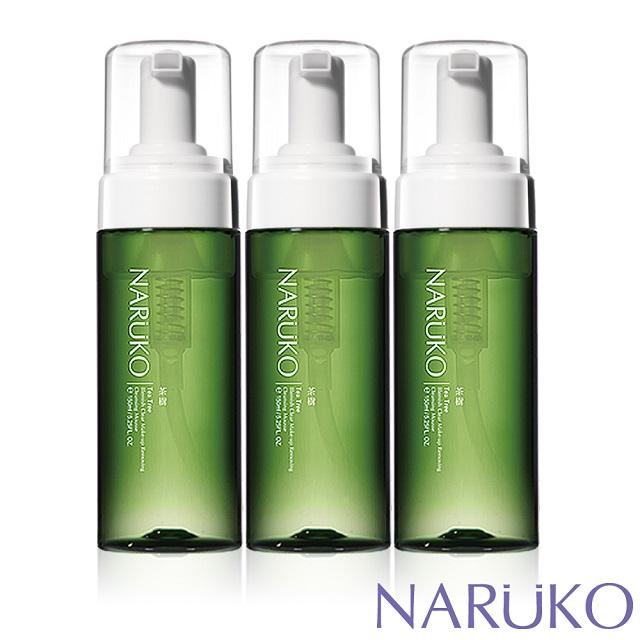 NARUKO牛爾 茶樹粉刺快閃洗卸兩用慕絲150ml(3入)