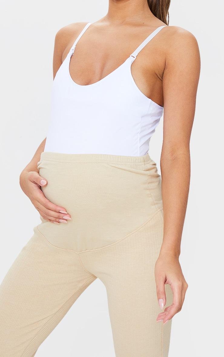 Maternity White Nursing Cami Top