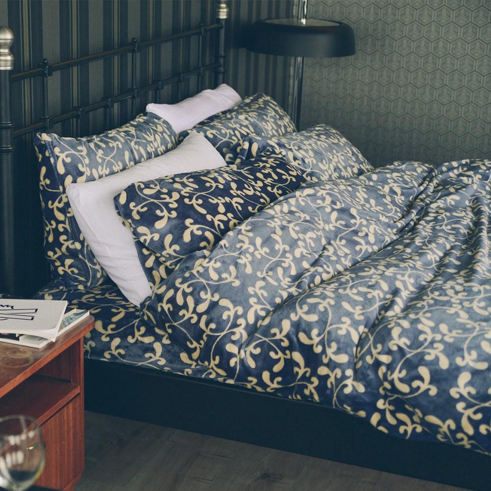 翔仔居家 法蘭絨兩用被毯床包4件組【多款尺寸 花色任選】暖被毯 兩用被 獨家花色 台灣製