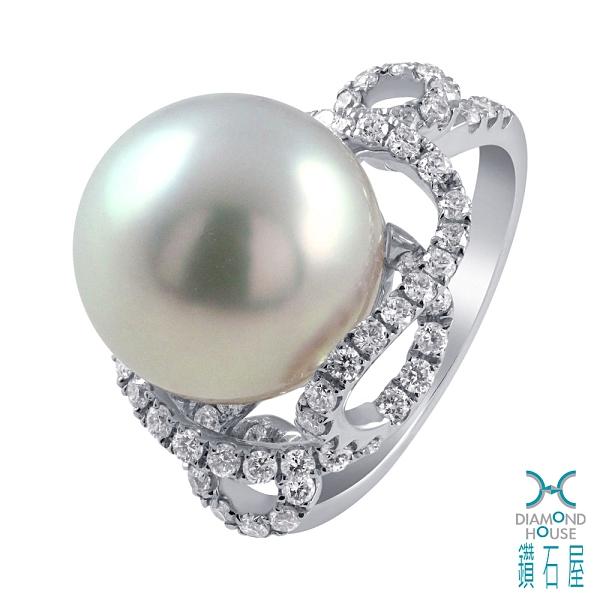 【鑽石屋】12.7mm南洋珠戒指