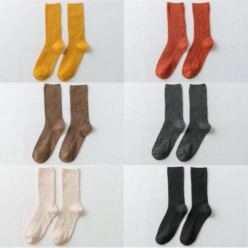 棉襪 襪子女棉質堆堆襪秋冬季棉質日系中筒高筒ins潮中長款長筒襪