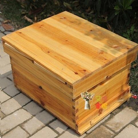 蜜蜂箱 全套中蜂帶框巢礎煮蠟蜂箱杉木成品巢框蜂巢蠟養蜂工具T