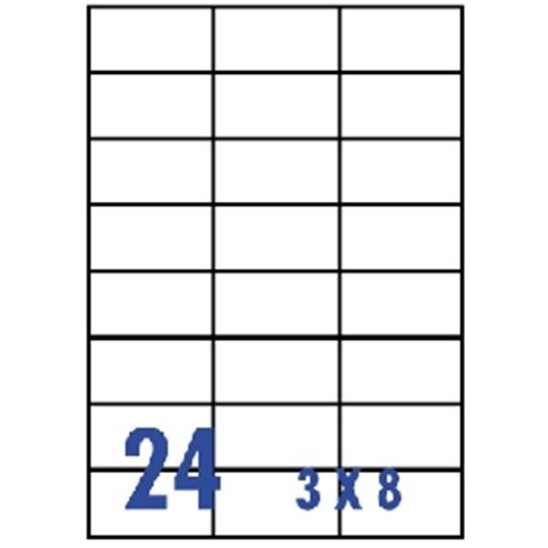 unistar 裕德3合1電腦標籤紙 (8) us4464 24格 (20張/包)