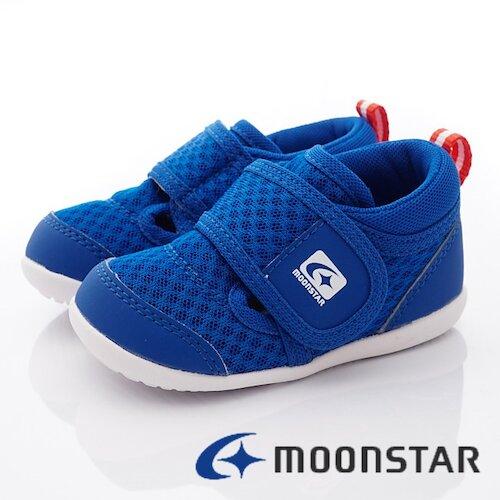 日本月星機能童鞋-速乾寶寶學步款-MSCNB2535藍-(13cm-14.5cm)