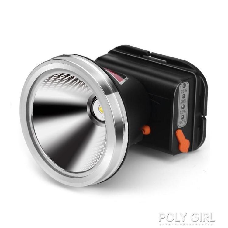 新年鉅惠▶強光頭燈充電超亮頭戴式手電筒釣魚黃光疝氣燈超長續航戶外礦燈