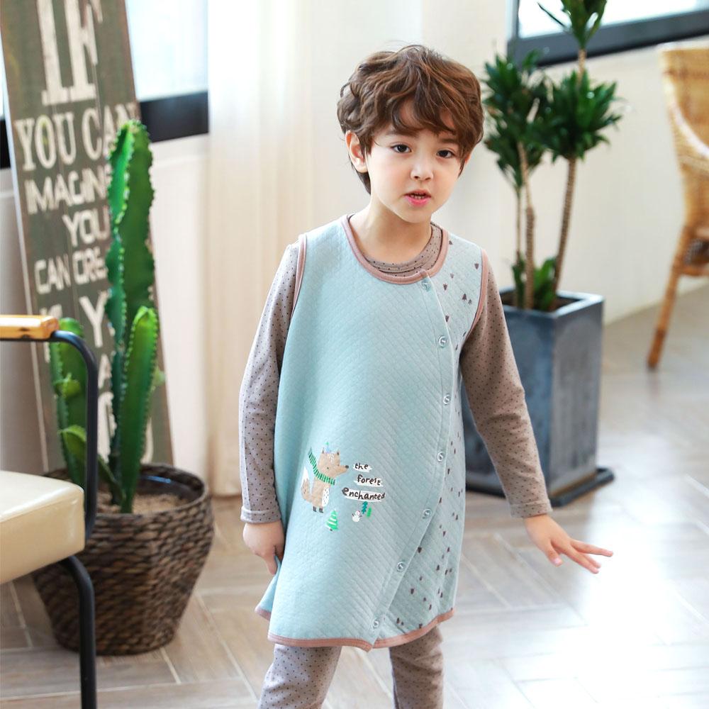 韓國防踢被背心 2-6歲 著迷狐狸 | 正韓童裝 | 小男童【18F-2279HOTB】BD0200
