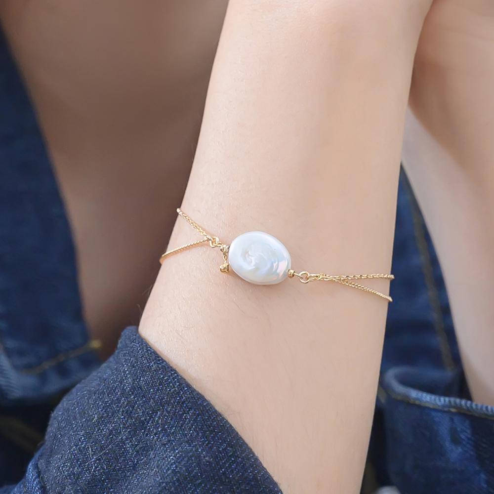 人魚珍珠雙層手鍊-E20036