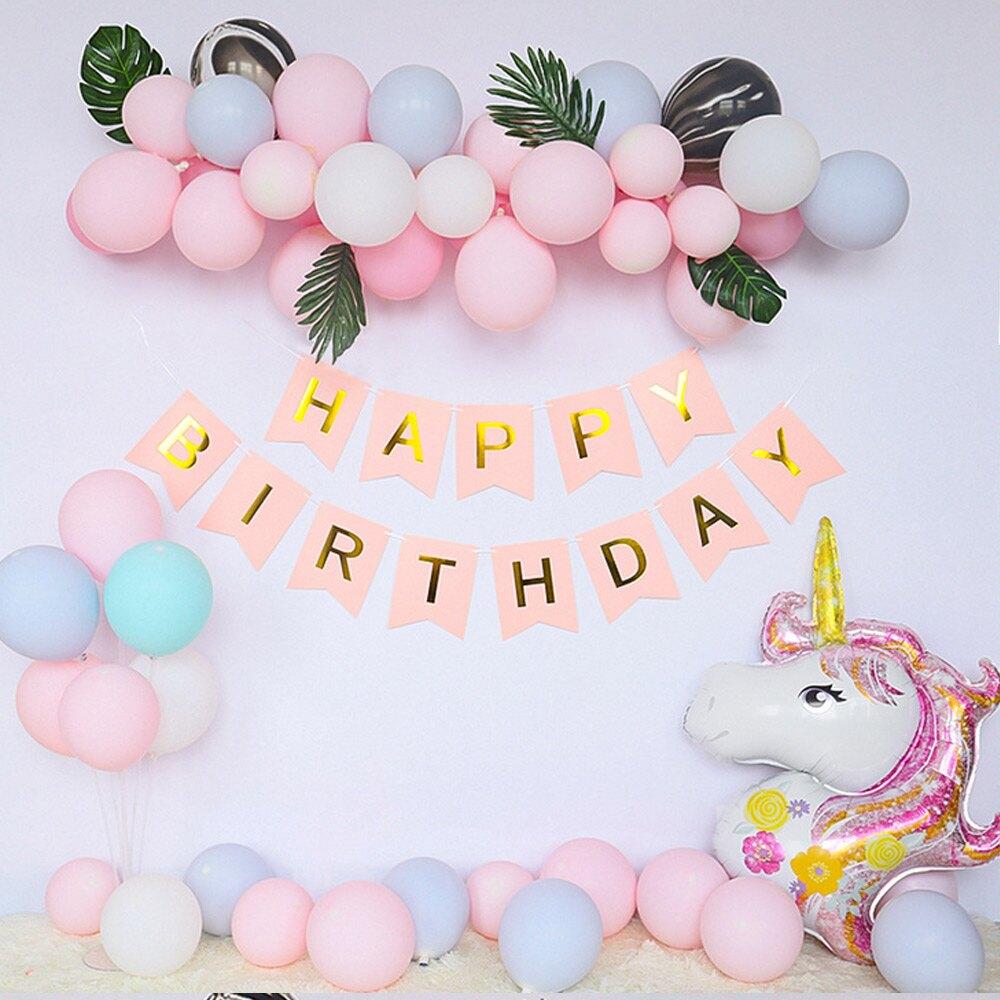 造型氣球 生日派對馬卡龍色系造型布置週歲慶生派對 場地布置氣球 生日派對布置會場 88637