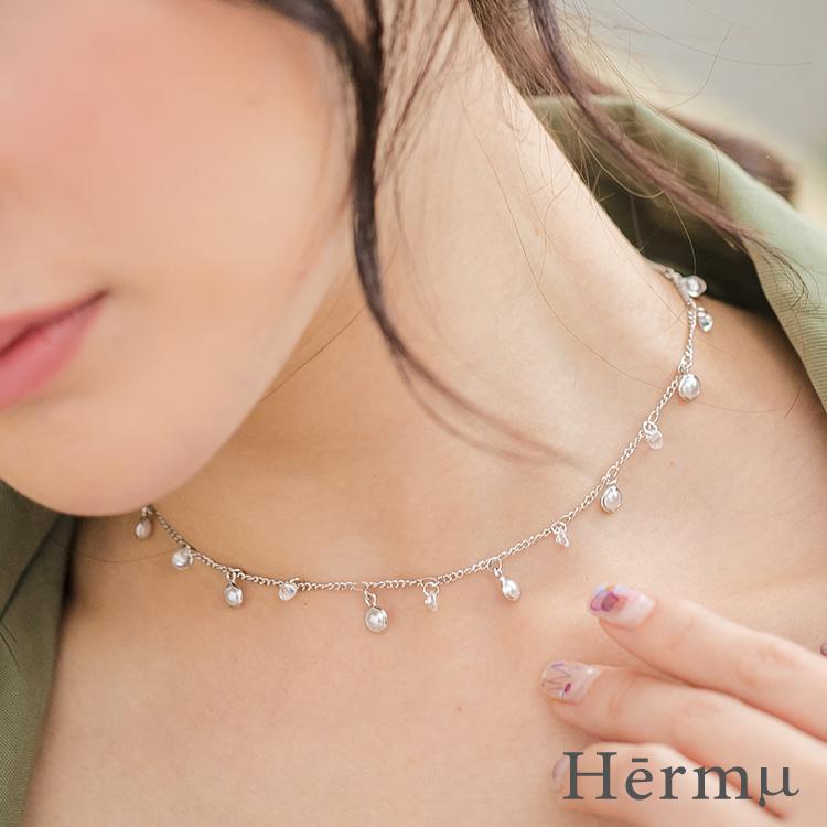 珍珠小星球項鍊-09376