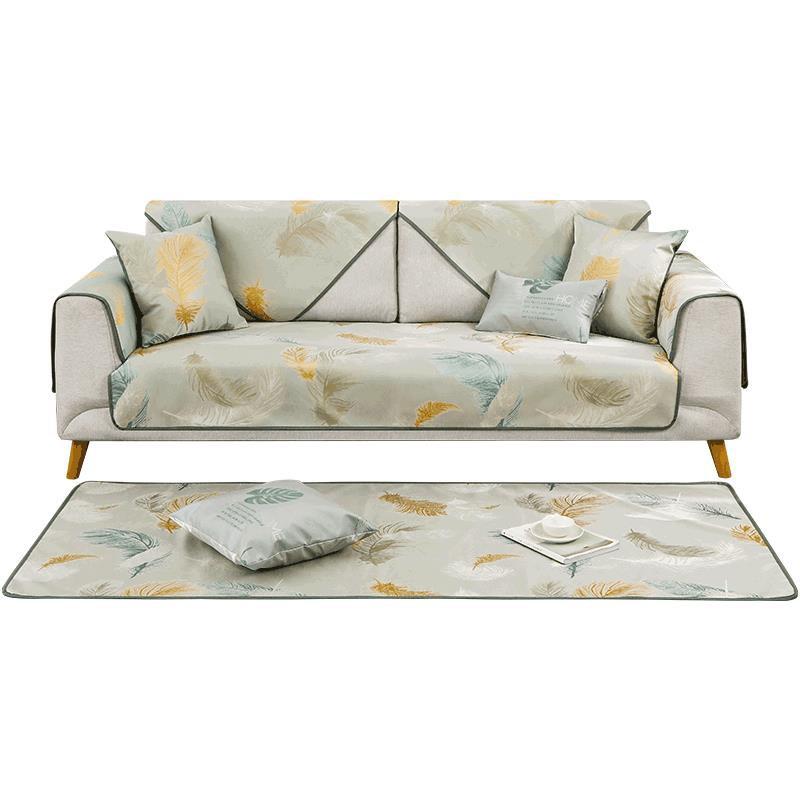 JM沙發墊夏季涼席墊冰絲涼墊簡約現代坐墊客廳通用防滑竹席座墊#新品#下殺