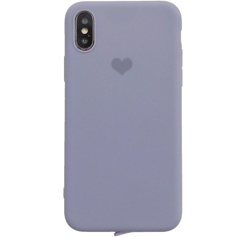 純色小愛心8plus蘋果x手機殼XS Max/XR/iPhoneX/7p/6女款iphone6s個性新款創意男情侶硅膠全包邊防摔軟殼
