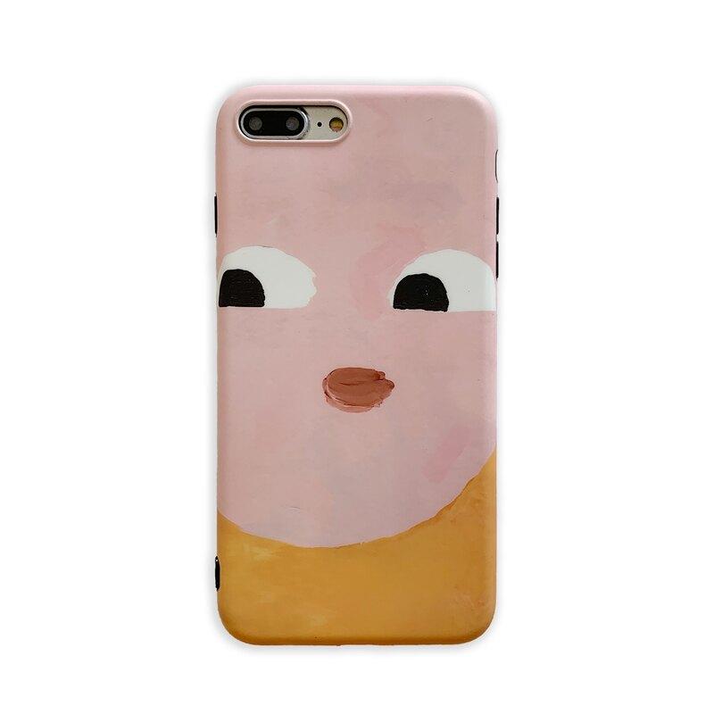 自拍擋臉表情8plus/7p/6蘋果x手機殼XS Max/XR/iPhoneX女iPhone6s潮可愛硅膠全包防摔套個性創意軟殼韓國