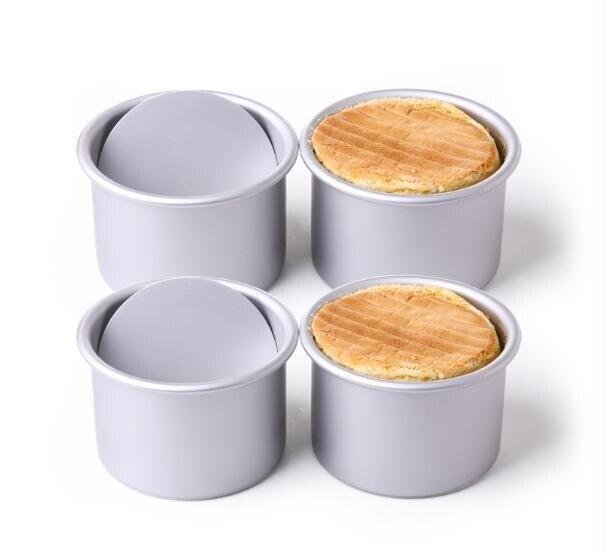 烤盤【展藝陽極活底蛋糕模4寸】4個裝圓形戚風烘焙模具[優品生活館]