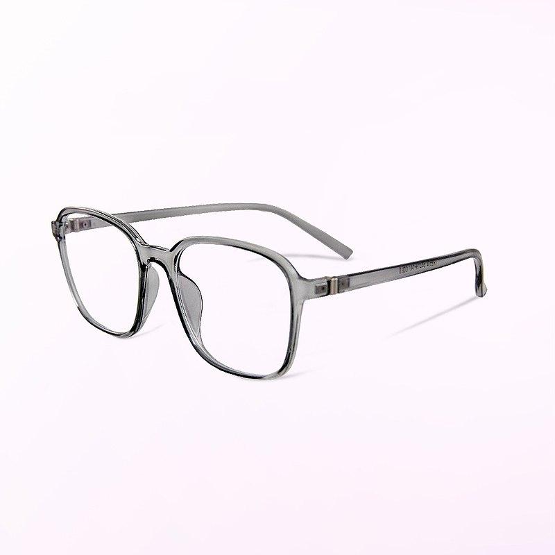 哈斯塔特的雲煙奇境│透視感天際灰TR90幾何方框UV400濾藍光眼鏡