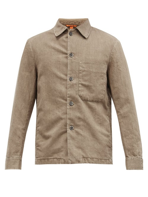 Barena Venezia - Rocheo Cotton-blend Overshirt - Mens - Black White