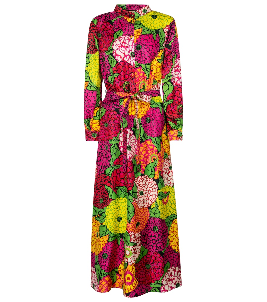 x Ken Scott floral silk midi dress