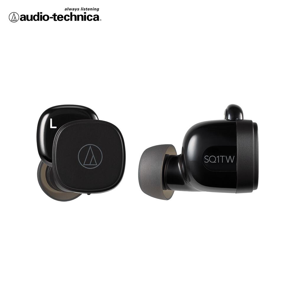 鐵三角 ath-sq1tw 真無線耳機(黑色)