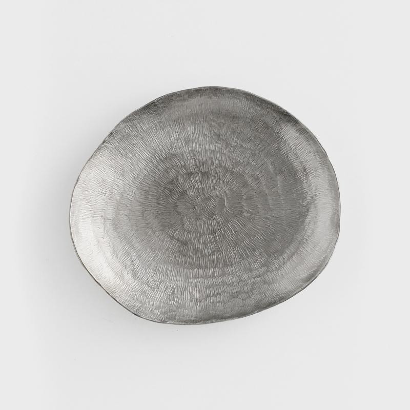 職人 錘目工藝 15.5cm 錫器淺盤|放射|單品