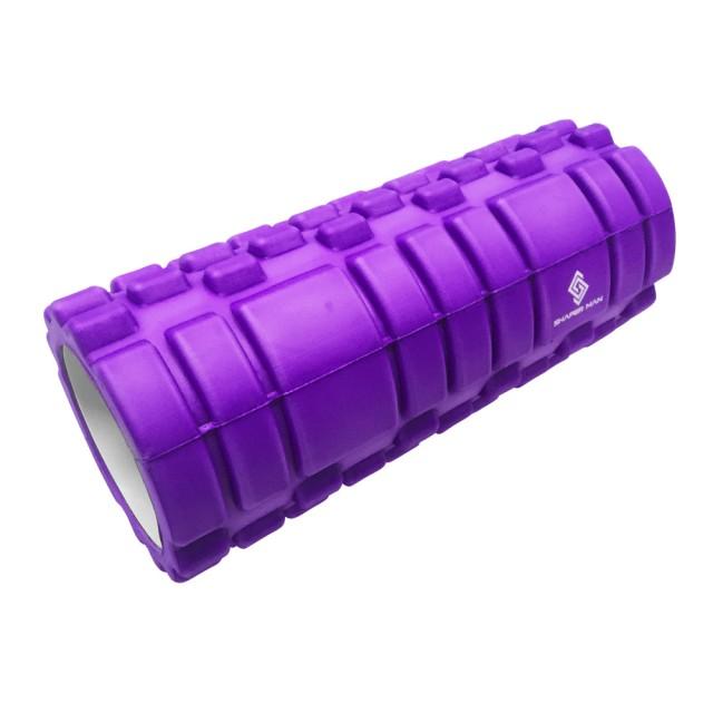 【SHAPER MAN】筋膜放鬆瑜珈按摩滾輪(藍/綠/紫)★專業舒緩滾筒,特殊凸點設計舒緩腿部臀部等各部位緊繃肌肉